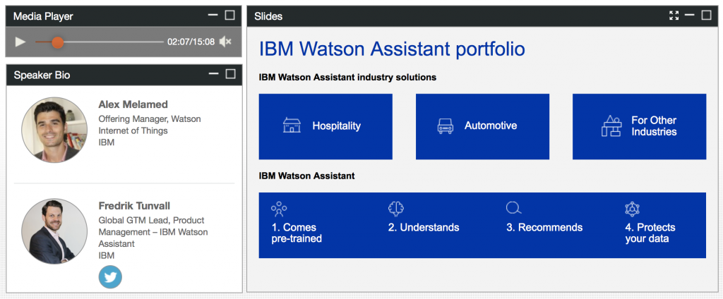 Sign up for the Watson Assistant webinar and learn how you can give your brand a voice.