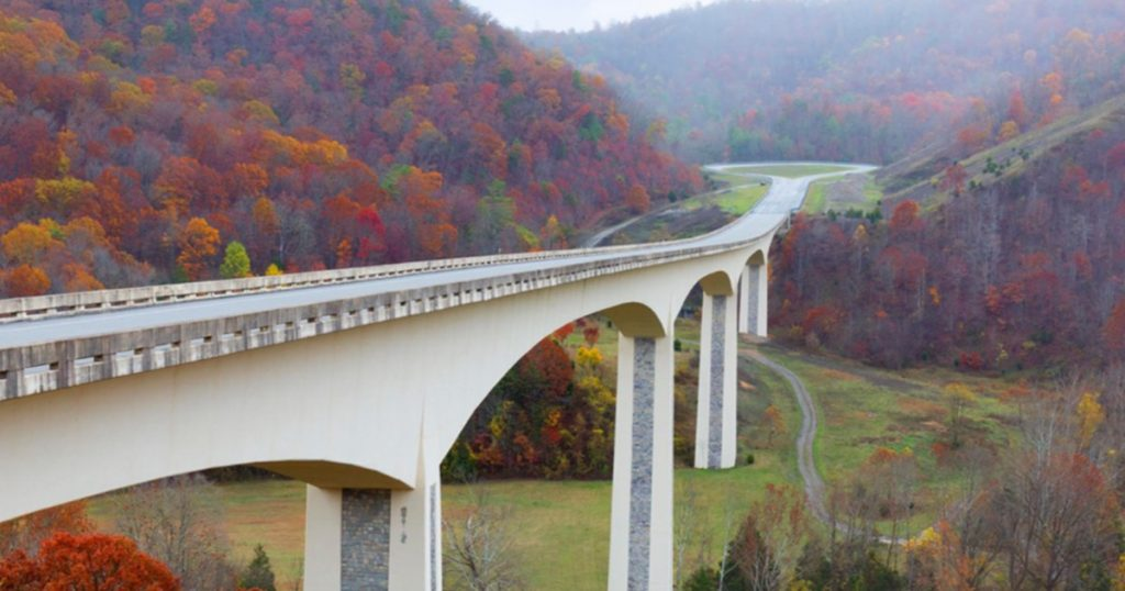 Here's a photograph of an actual freeway in Virginia where automomous vehicles are being tested now.