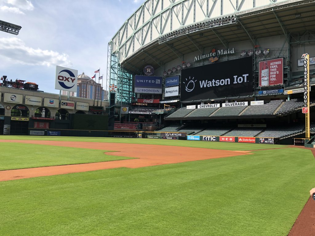 """Just don't touch the grass."" That was the one rule as we toured Minute Maid Park at the end of our Houston Genius of Things event."