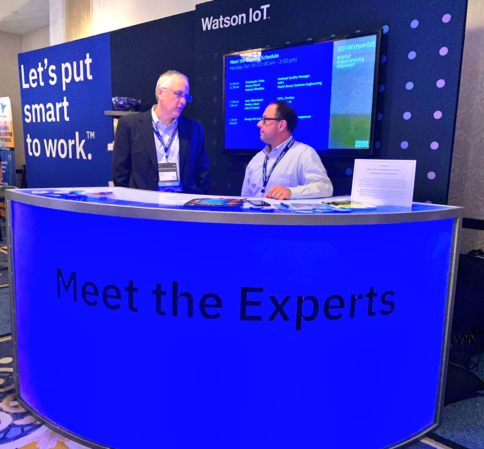 IBM product experts were on hand to answer questions and walk through demos at the AE Summit.