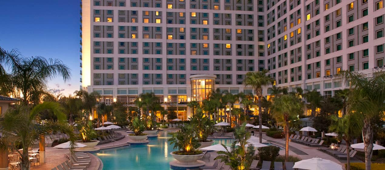 The Hilton Orlando is the perfect location for our first IBM IoT Exchange.  - hilton exterior - Be informed. Be inspired. Be connected. Be ready for THE IoT event of the year!