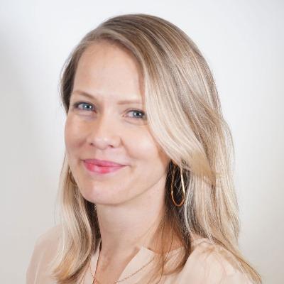 Headshot for UX design apprentice manager Ana Manrique, Program Director of Design for IBM Cloud