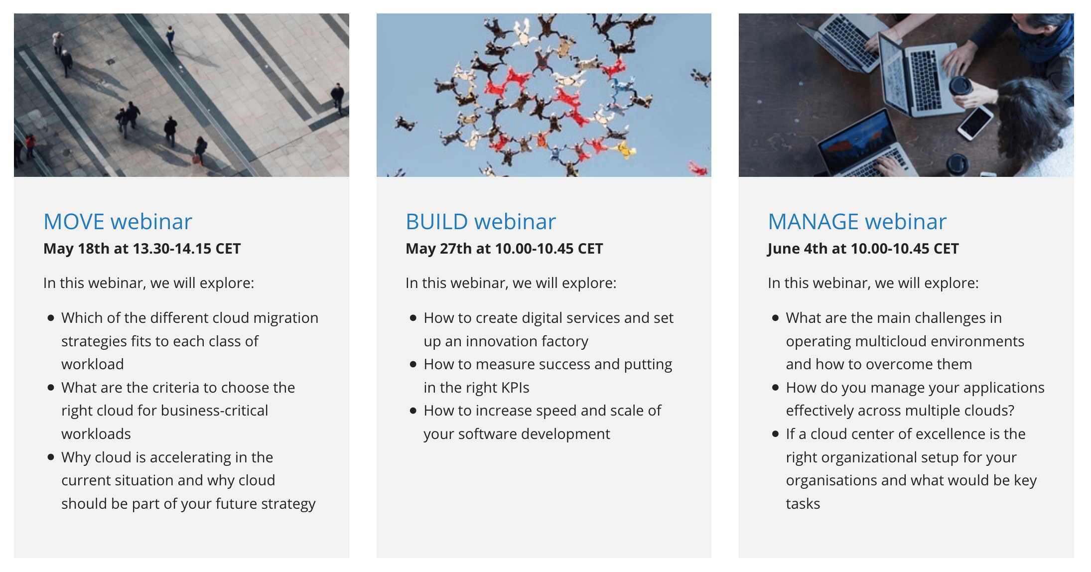 Journey to Cloud Webinar Series