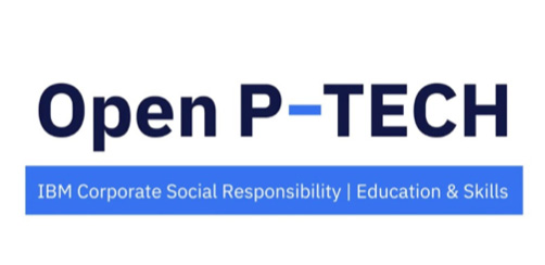 Open P-TECH is a free digital learning platform that helps students and teachers learn about AI, Cloud, Cybersecurity, Quantum and more tech