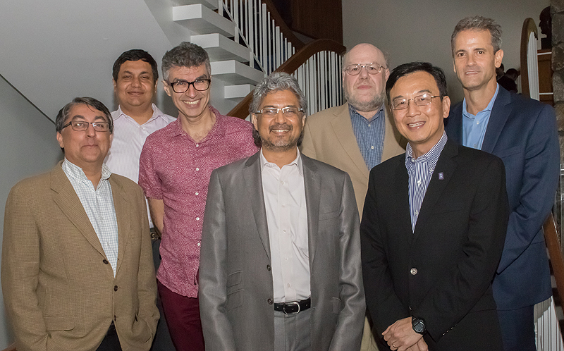 TOP ROW (left to right): Anupam Joshi, University of Maryland, Baltimore County; Yoshua Bengio, University of Montreal; Jim Hendler, Rensselaer Polytechnic Institute; Jim DiCarlo, Massachusetts Institute Technology BOTTOM ROW (left to right): Satinder Singh Baveja, University of Michigan; Guru Banavar, Chief Science Officer, Cognitive Computing and VP, IBM Research; Wen-Mei Hwu, University of Illinois Urbana-Champaign.