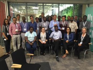 The anti-malarial drug resistance hackers from IBM Research – Africa, H3ABioNet, and the University of Notre Dame.