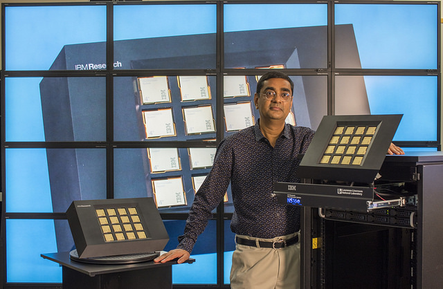 IBM Fellow Dharmendra Modha with the NS16e