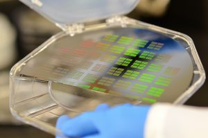 A silicon wafer designed to sort particles found in bodily fluids for the purpose of early disease detection.