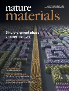 Single-element phase change memory: Nature Materials cover story