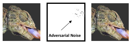 Adversarial noise added to an image