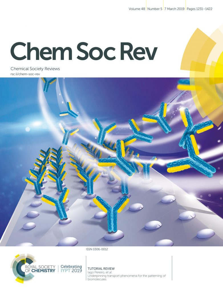Cover image illustrating a flow of biomolecules on a surface.