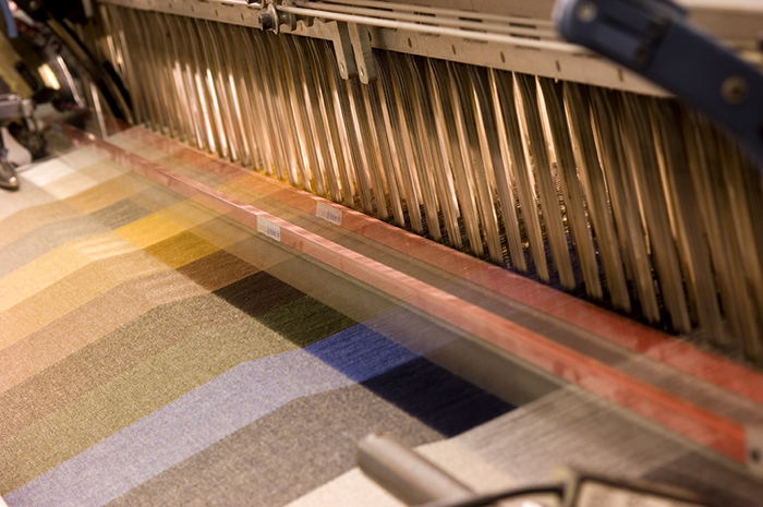 Weaving is just one stage in the processing of luxury textiles (photo courtesy of Piacenza)
