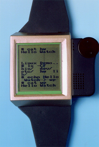 IBM Watchpad, the internet-enabled designer watch running Linux from 2000