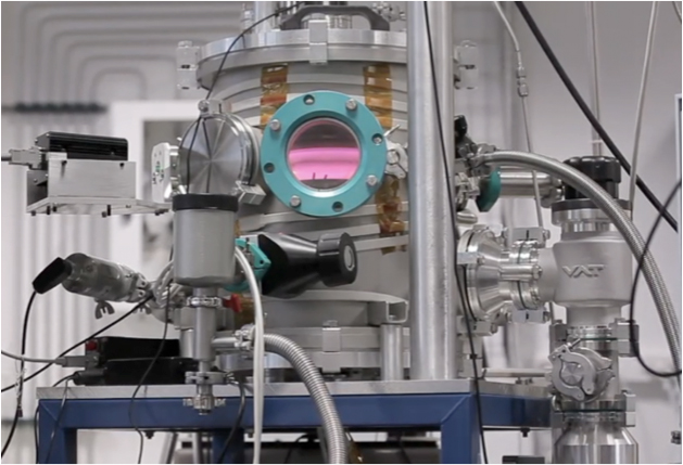 The experiment, PAMPRE, where the atmosphere of Titan is simulated. (Credit: Nathalie Carrasco)