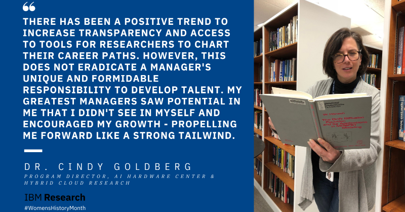 """""""There has been a positive trend to increase transparency and access to tools for researchers to chart their career paths. However, this does not eradicate a manager's unique and formidable responsibility to develop talent. My greatest managers saw potential in me that I didn't see in myself and encouraged my growth - propelling me forward like a strong tailwind."""""""