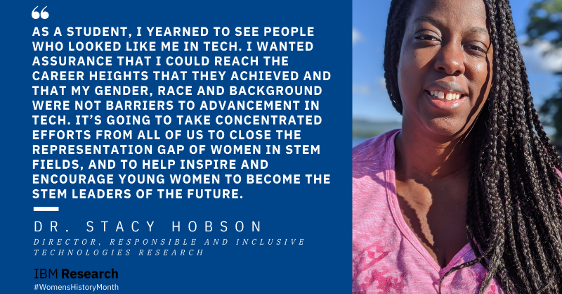 """""""As a student, I yearned to see people who looked like me in tech. I wanted assurance that I could to reach the career heights that they achieved and that my gender, race and background were not barriers to advancement in tech. It's going to take concentrated efforts for us to close the gap of representation of women in STEM fields, and help inspire and encourage young women to become the STEM leaders of the future."""""""