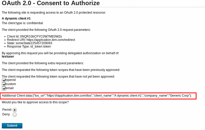 OAuth: Dynamic Client Registration - IBM Security Identity