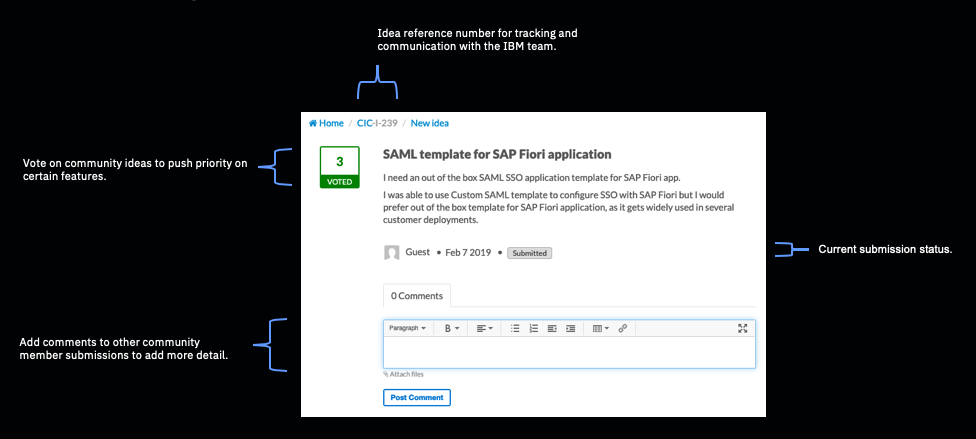 Requesting new features in IBM Cloud Identity - IBM Security