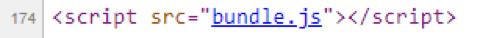 図8:bundle.jsは元のHTMLページによってロードされる