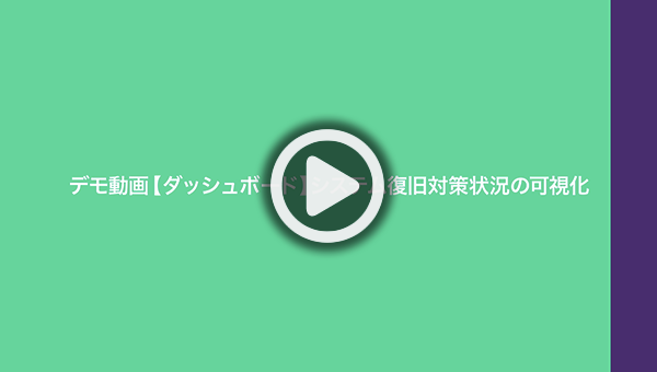 デモ動画【ダッシュボード】システム復旧対策状況の可視化