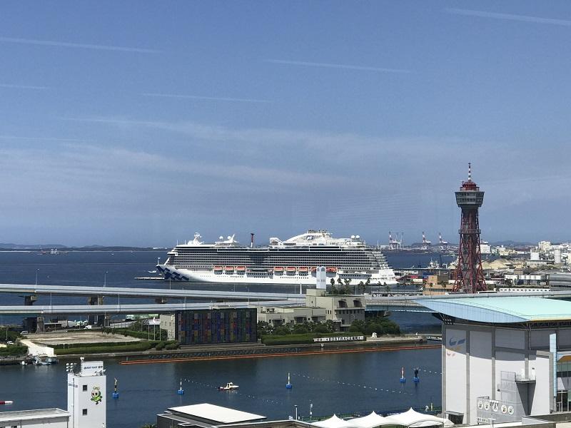 オフィスからの風景 博多港国際ターミナル