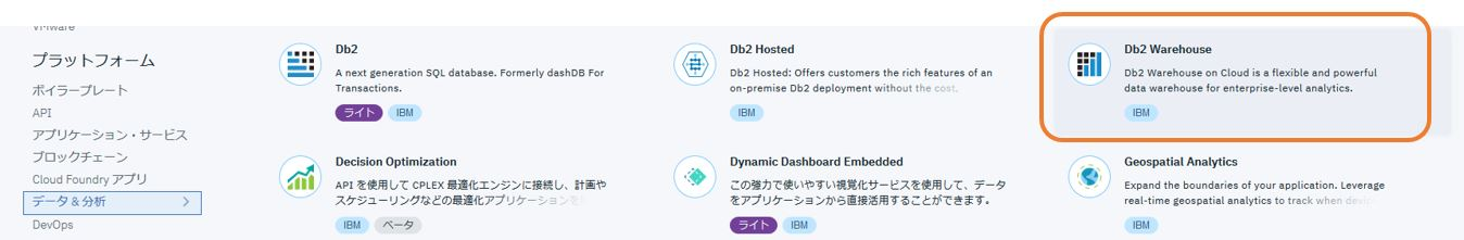Db2 Warehouse on Cloud