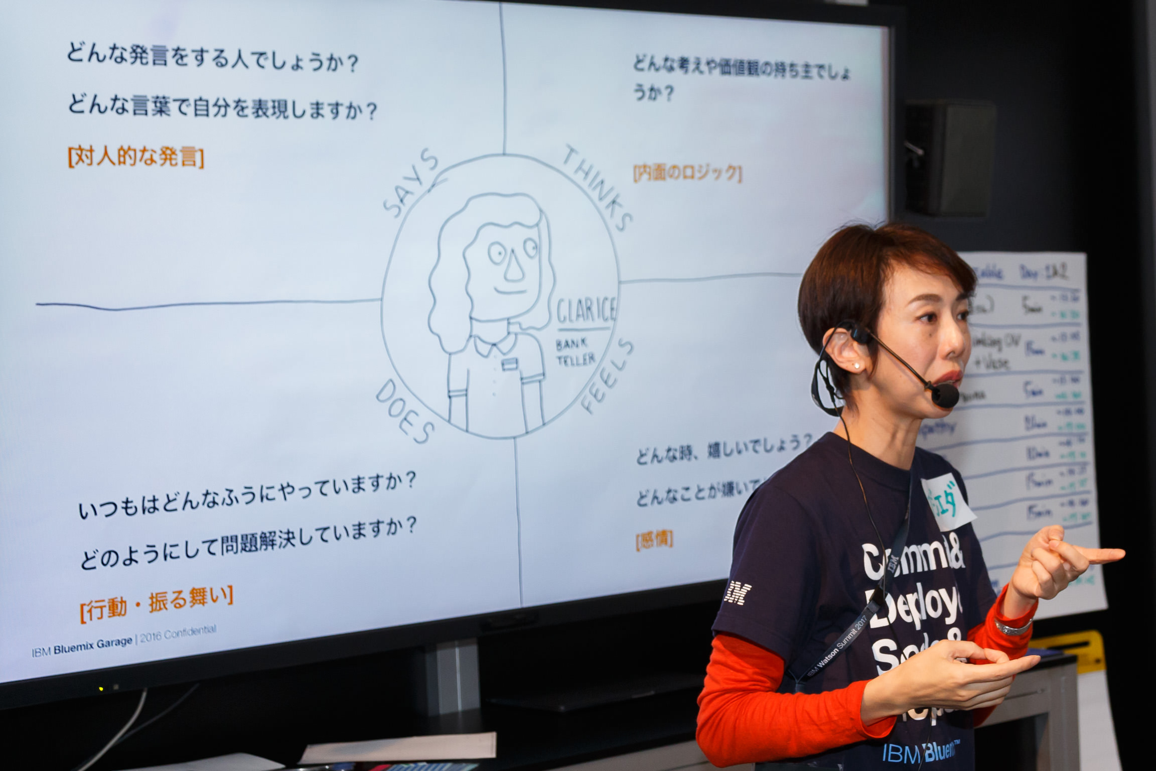 共感マップの図を説明する藤枝氏