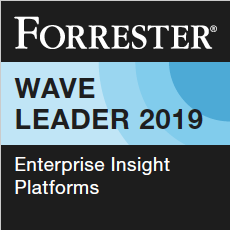 Forrester Wave Leader Badge for Enterprise Insight Platform