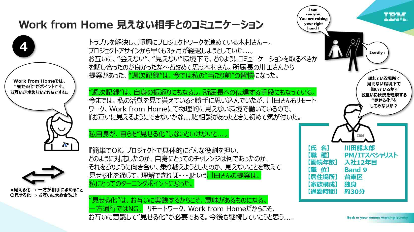 Work from Home 見えない相手とのコミュニケーション