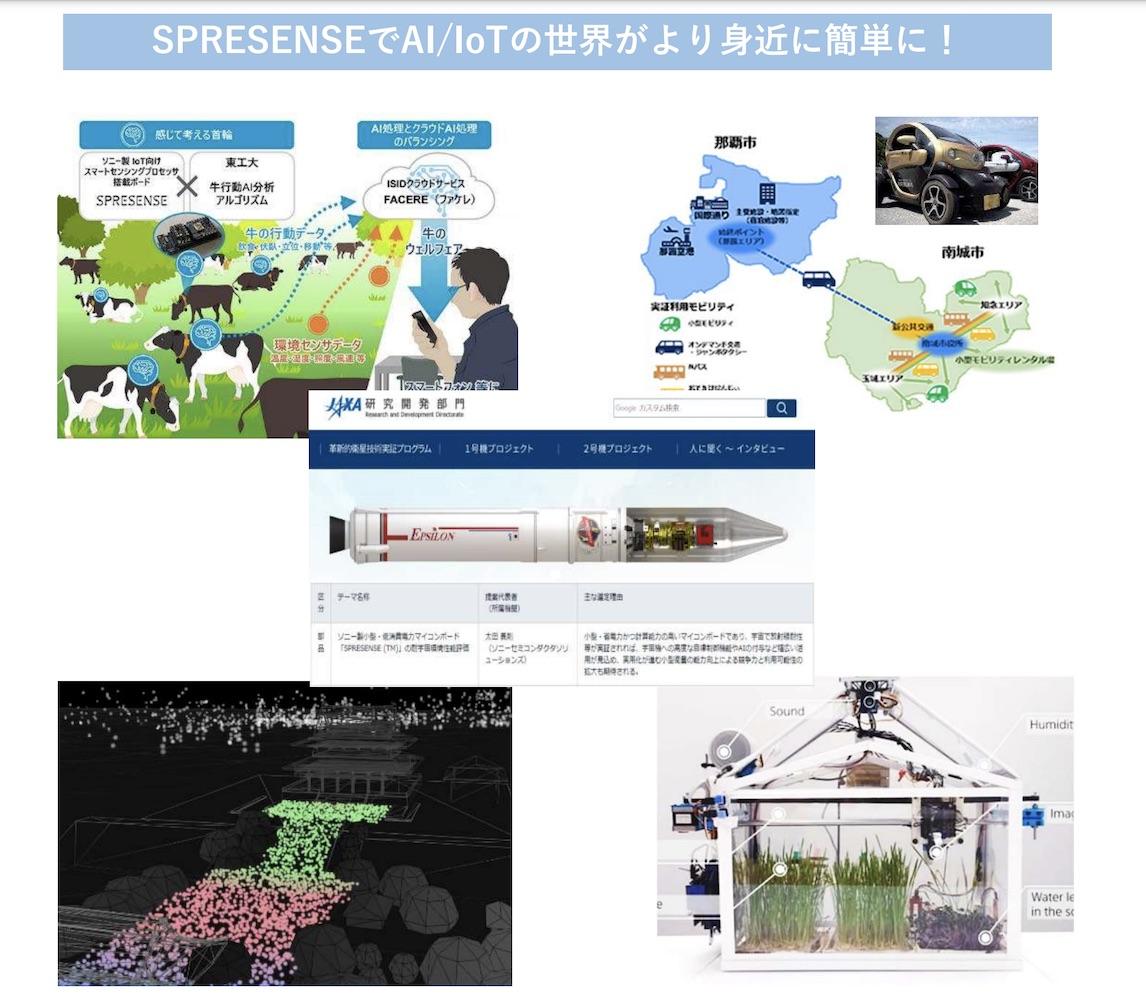 SPRESENSEの多彩なユースケース(SPRESENSE活用事例)