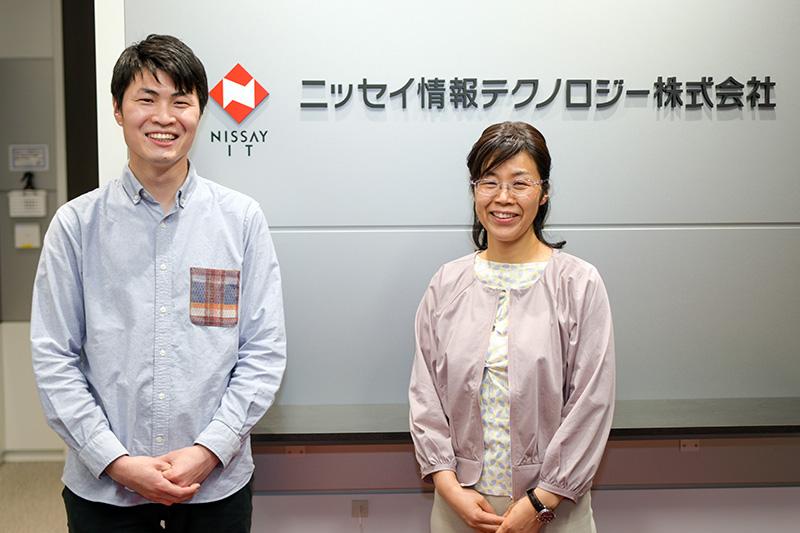 大阪拠点の山下氏(写真右)、新居氏