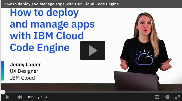 Code Engine How to deploy your app