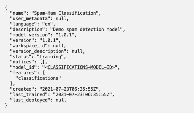 Introducing Classifications in Watson Natural Language Understanding