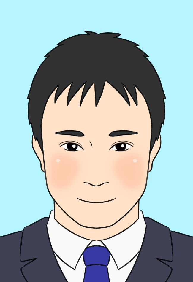 橫手裕人さんの似顔絵