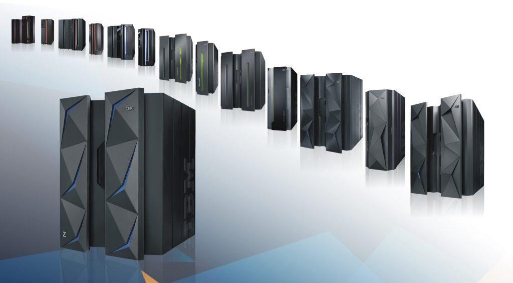 IBM Zの歴代製品のラインナップ画像