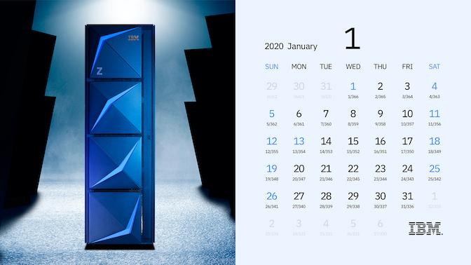 2020年1月 ジュリアンデートカレンダー イメージ