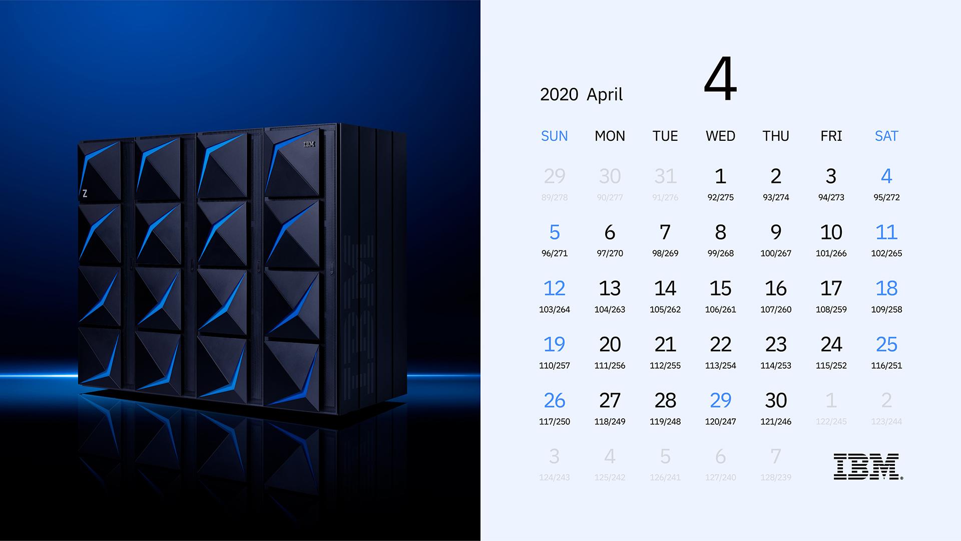 Ibm Z 特製 2020年カレンダー壁紙 ダウンロード Ibm Systems Japan Blog