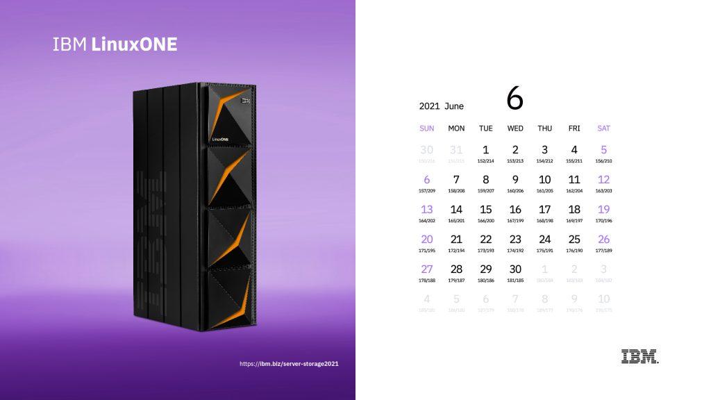 2021年6月 カレンダー
