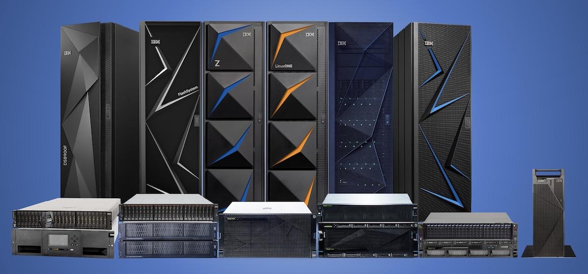 IBMのサーバーとストレージの代表的な製品ラインアップ画像