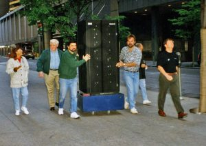 ロックフェラーセンターへDeep Blueを運ぶIBMのDeep Blueチーム