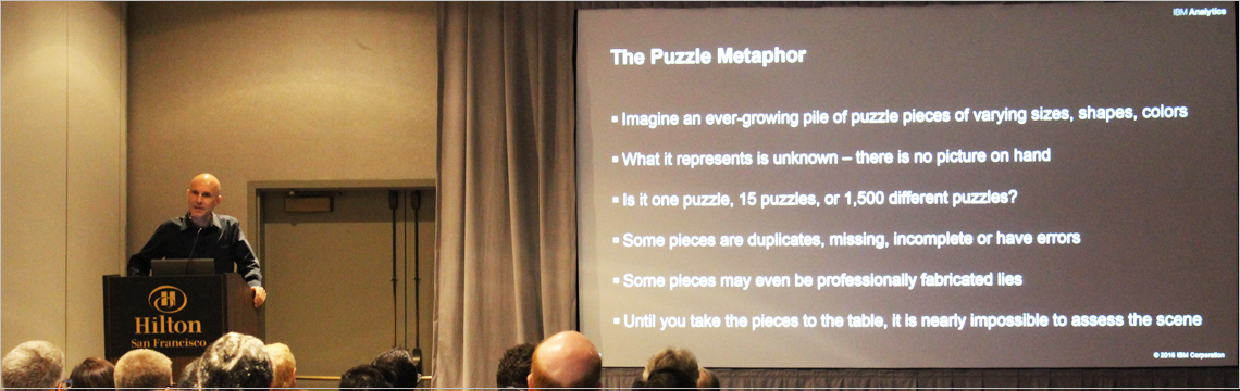 the puzzle metaphor image from IBM Tech event