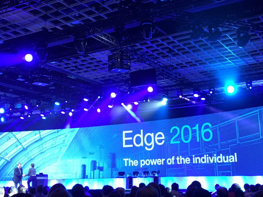 The power of the individual at Edge 2016