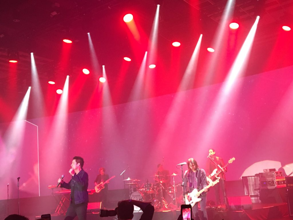 Train performs at Edge 2016
