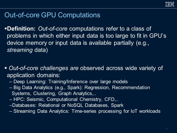 Out-of-core GPU Computations