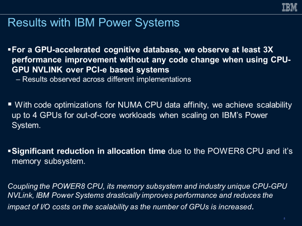 Results with IBM Power Systems