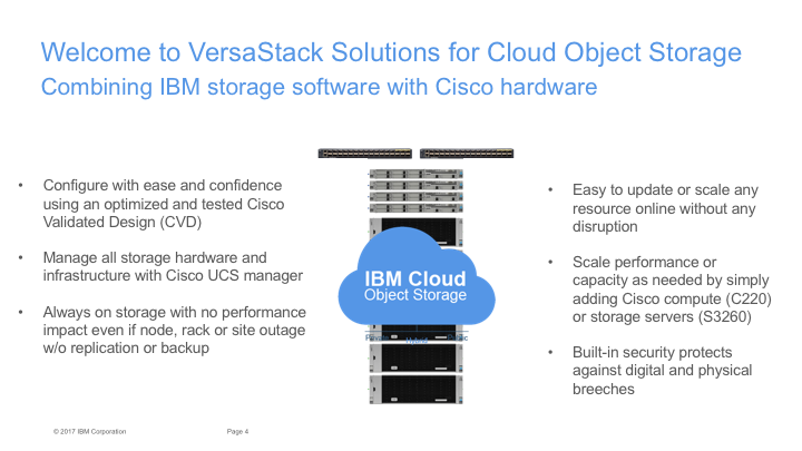 welcome to versastack solutions for cloud object storage
