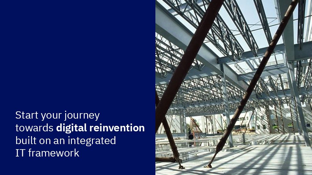 start your journey towards digital reinvention built on an integrated IT framework