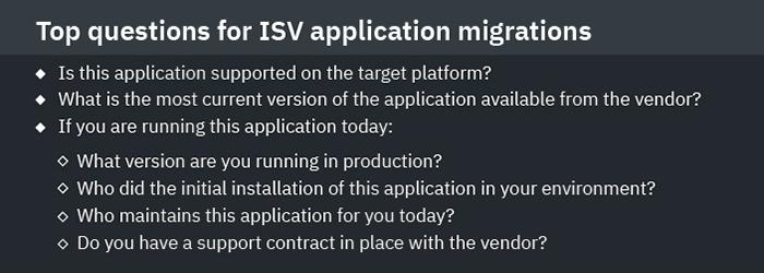 top questions for ISV application migrations, ISV Migration