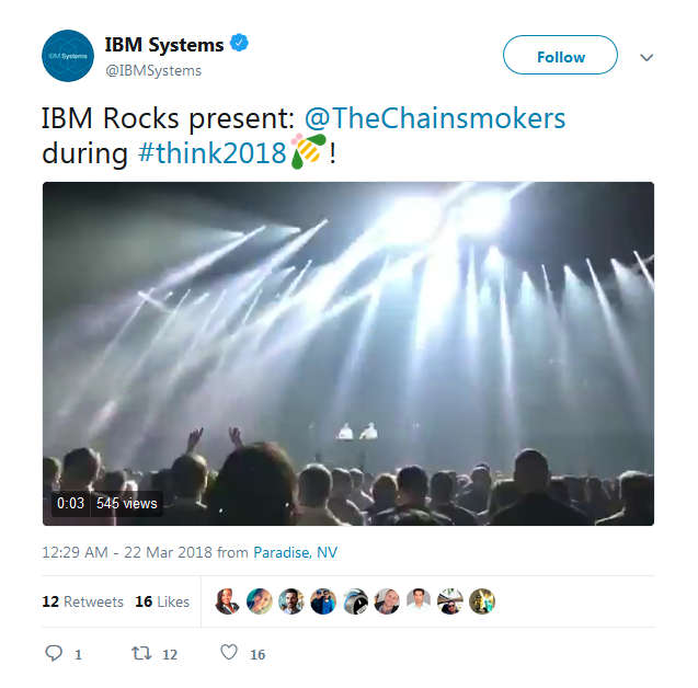 chainsmokers performing, Recap IBM Think
