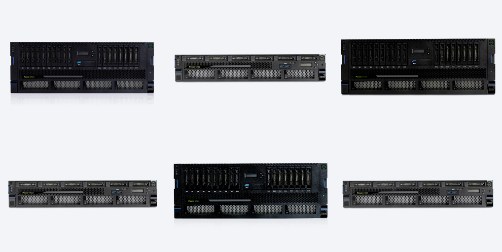 several pieces of IBM IT equipment